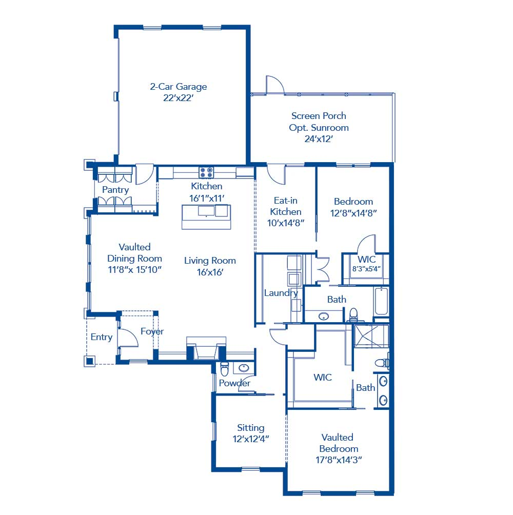 The Buckhead Floor Plan With Options