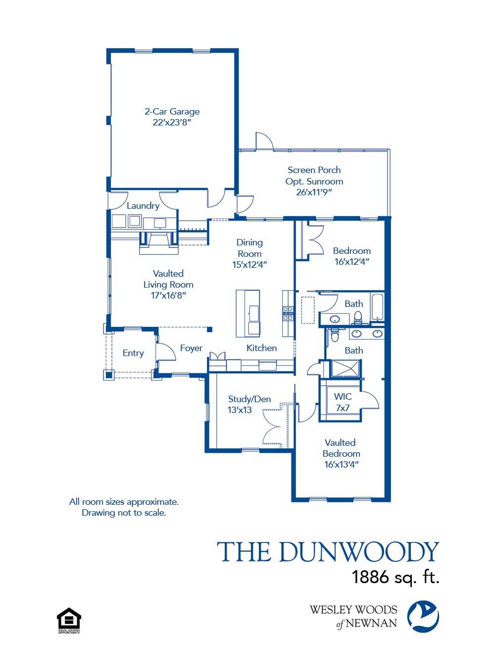 The Dunwoody 1 886 Sq Ft Wesley Woods