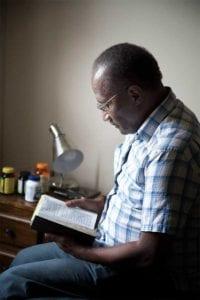 branan towers man reading bible