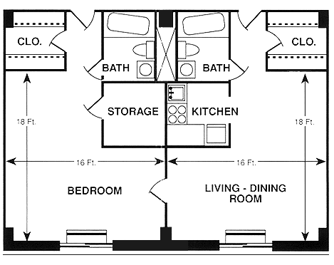 1 Bedroom - Type C